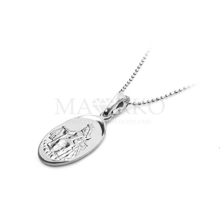 medalik szkalperz ze srebra